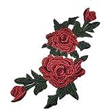 Qinlee Blumen Aufbügler Applikationen Flicken Stoff Patches Applikation Applique Bügelbild Aufnäher DIY Mode Handwerk Dekoration Flicken für Kleidung