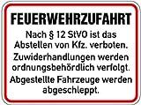 LEMAX® Schild Alu Feuerwehrzufahrt 300x400mm