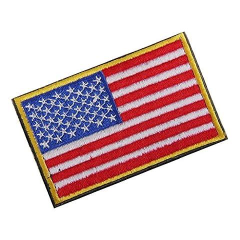 Usa Drapeau Americain Tactique Crochet De Broderie Insigne Boucle De Fixation