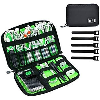 b0c696d785 Organizzatore di viaggio JamBer per gli accessori elettronici con cavi e  manico (nero)