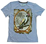 Amplified Herren T-Shirt Grau Meliert Queen Elizabeth 2 Pirat Ghost M 48