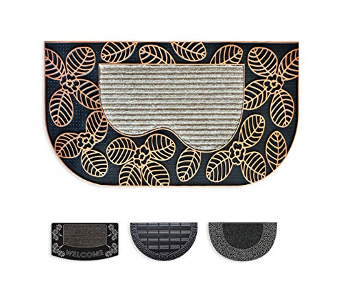 """Mabel Home Halbrund Durable PVC Fußmatte, 16\""""x28, Außen-Indoor, Wasserdicht, Low-Profile Matten für Entry (Mabel801)"""