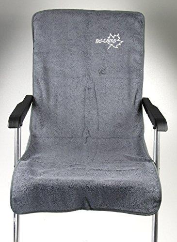 Stuhlüberzug S Frottee Mittelgrau für Campingstühle 108x47cm