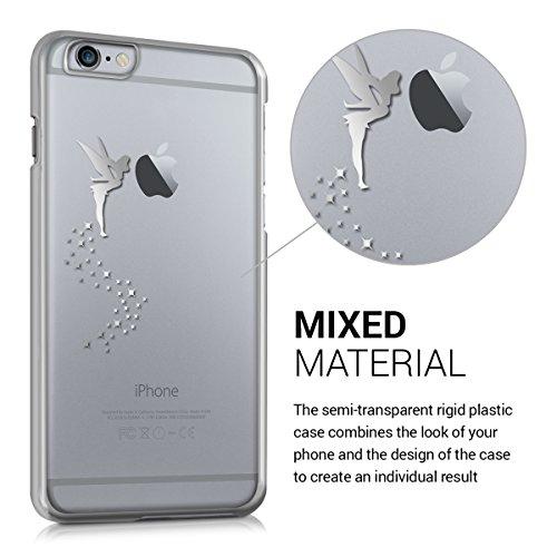 kwmobile Cover per Apple iPhone 6 Plus / 6S Plus - case protettiva per cellulare custodia smartphone back cover trasparente Design fata fucsia trasparente fata argento trasparente