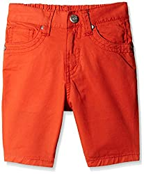 Gini and Jony Girls Shorts (122175188490 1222_Crimson_13-14 years)