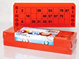 DiPrint 200 large printed Bingo cards for seniors system 15 from 90 red