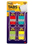 #3: Post-it Tabs, 1-Inch Solid, 4 Assorted Colors, 25-Tabs/Dispenser, 4-Dispenser/Pack (686-RALY)