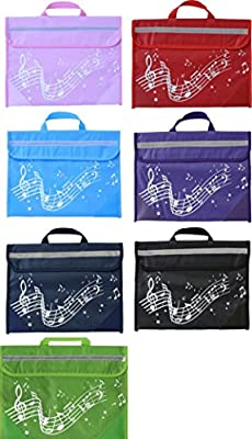 Musicwear Wavy Stave Musical Instrument Tidy Music Easy Open Velcro Bag Musician by Musicwear