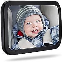 TOPELEK Rücksitzspiegel, Spiegel Auto Baby, Shatterproof und drehbar doppelriemen