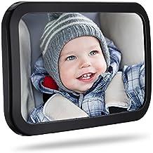 Espejo Coche para Bebé, TopElek Espejo para Asientos Traseros con Superficie Convexa y Material Irrompible para Vigilar Bebé en Coche