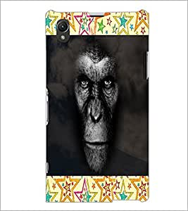 PrintDhaba Gorilla D-4742 Back Case Cover for SONY XPERIA Z1 (Multi-Coloured)