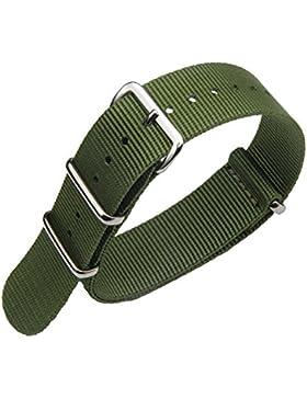 18mm Armee grün High-End souverän NATO ballistisches Nylon Uhrenarmband-Bügel Ersatz für Männer geflochten