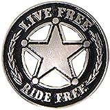 Insignias Star Live Free Ride Free