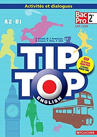 TIP-TOP ENGLISH Seconde Bac Pro CD Audio by Annick Billaud (2014-05-17)
