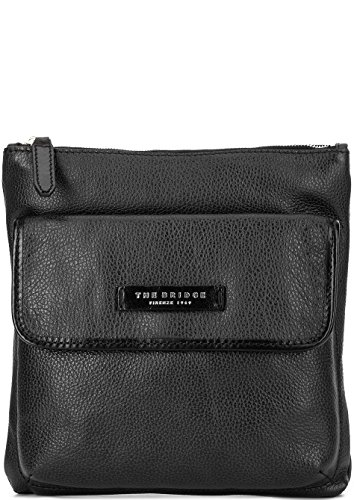The Bridge Plume Mix Uomo Borsa a tracolla pelle 26 cm Nero