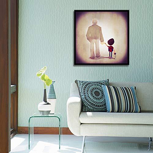 kanhaonio Rahmenlose ölgemälde dekorative malerei Wohnzimmer einfache Tier Schwein wandmalerei 40 * 40 cm