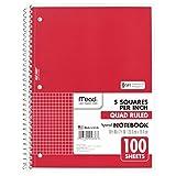 Die besten Mead Notebooks - Mead Spiral Notebook, 1Thema, Quad liniertes Papier, 100Blatt Bewertungen