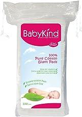 BabyKind - Salviettine in cotone per neonati, quadrate, misura gigante, 600 pz