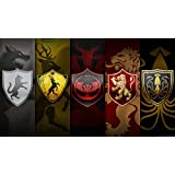 A SONG OF ICE AND FIRE EMBLEMS GAME OF THRONES GARYCK ARNTZEN HOUSE HOUSE BARATHEON HOUSE GREYJOY WALLPAPER ON FINE ART PAPER HD QUALITY WALLPAPER POSTER