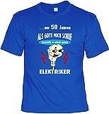 Geschenk Elektriker zum 50.Geburtstag: ...vor 50 Jahren... guten Elektriker / Geburtstags T-Shirt Gr.: L Farbe: royal-Blue