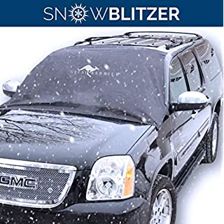 Car Windscreen Snow Cover for Winter Snow Removal- Magnetic Snow, Ice and Frost Guard - Fits SUV, Truck & Car Windshields - Auto Windscreen Frost Cover - Large - Outback Shades