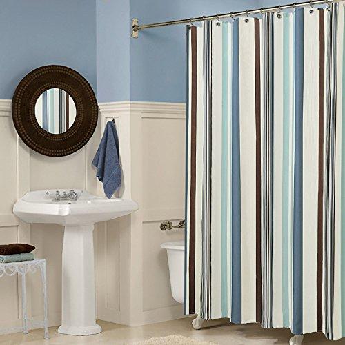 Milaya ji bin shop® strisce romantiche impermeabili in mildewproof tende da doccia più spesse tenda doccia a più dimensioni ++ (dimensioni : 180 * 200cm)