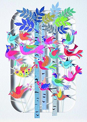 Forever Geburtstag Laser Cut Karte 3D Grußkarte Vögel zwitschern im Wald Einladung 16x11cm