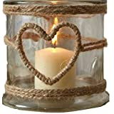 Handmade Glass Heart Candle Holder