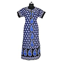 bd4126acff Mudrika Women Cotton Nighty Gown Sleepwear Nightwear Maxi Soft and Stylish  Night Suit Cotton
