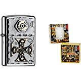 Zippo briquet 15493 cross and skulls gift special edition set premium collection, article nummer- 2.004.746.4...