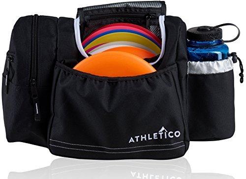 Athletico Disc Golf Bag–Tasche für Frisbee Golf–10–14Discs, Wasser Flasche, und Zubehör (600 Denier Polyester-gewebe)