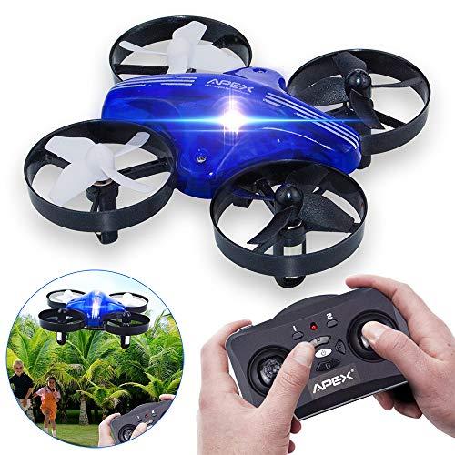 HD HARUDONE GD65A Mini Drohne Quadrocopter RC Flugzeug Spielzeug Geschenke Indoor Outdoor Spiele für Kinder Jungen (Blau)
