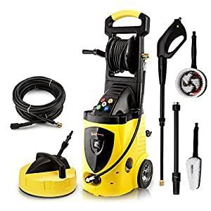 Wilks USA RX550 Pressure Washer - Huge 262 Bar - Includes 5 Nozzles, Patio Cleaner Plus Scrub and Rotary Driven Brushes