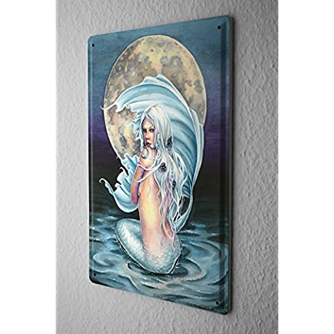 Cartel de chapa Placa metal tin sign Selina Fenech Fairies Fantasy art sirena diosa luna antes de 20x30 cm