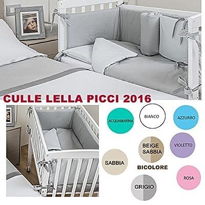 ColchÓn De Cuna Lella Picci De Color Blanco Y Parte Superior De Textil