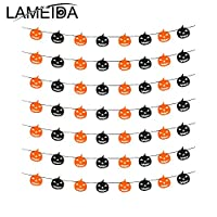 LAMEIDA Bunting for Halloween Party Decoration Flag Pumpkin Fabric Flag Banner for Halloween