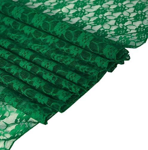 MDS Tischläufer für Hochzeiten, 30,5 x 274,3 cm, Spitze, 10 Stück 5 Hunter Green - Hunter Green-zubehör