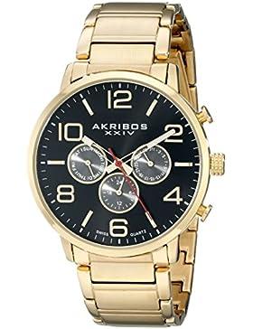 Akribos XXIV Herren Armbanduhr Analog Display Swiss Quarz Gold