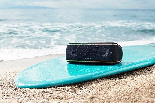 Sony SRSXB41B - Altavoz portátil Bluetooth (Extra Bass, Modo Sonido Live, Party Booster, Luces de Fiesta llamativas, Conector USB para Cargar Smartphone), Color Negro