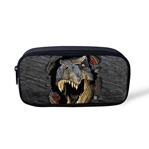 (Coloranimal Kosmetiktasche oder Federmäppchen mit Wolfdesign, für Kinder, groß, für Schule, Büro 8.66 inch(L)x1.77 inch(W)x4.33 inch(H) Dinosaurier)