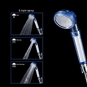 yolococa ionic filter handheld shower head 3 shower modes kitchen home. Black Bedroom Furniture Sets. Home Design Ideas