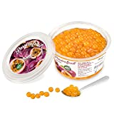 Popping boba für Bubble tea, Maracuja, 450 gr, Ohne künstliche Farbstoffen, echten Fruchtsäfte, weniger Zucker, 100% vegan und glutenfrei