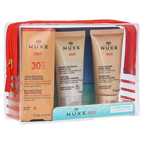 Nuxe Gesichtspflege Sonnenpflege und Selbstbräuner Reise-Set Crème Visage LSF 30 50 ml + Shampooing Douche Après-Soleil 100 ml + Lotion Délicieux Vis (Sun Selbstbräuner Milch)