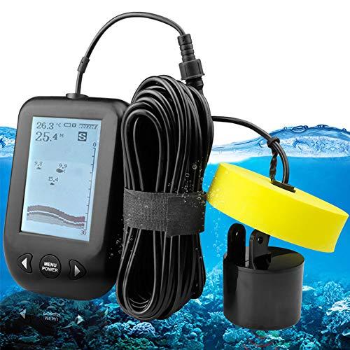 DZSF Tragbare Fish Finder 9 Mt Kabel Echolot Alarm 0,6-100 Mt Tiefe Fishfinder Wandler Sensor Sonar für Angeln Tragbaren Sonar-fishfinder