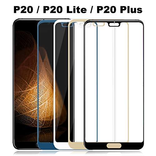 Panzerglas Schutzfolie Film,Tempered Glass P20 Lite Glass On for P20 Lite Pro Plus Screen Protector P20lite P 20 Protective Film Protection Light for Huawei P20 White Key-mate Light