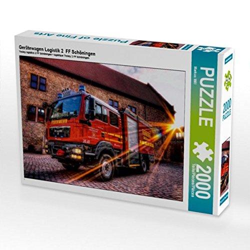 Braunschweig 2 Licht (Gerätewagen Logistik 2  FF Schöningen 2000 Teile Puzzle quer)