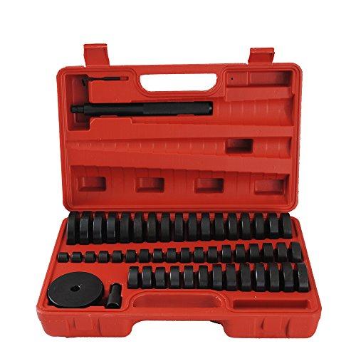 CCLIFE Radlager Montagescheiben Radialdichtringen Buchsen Schalen Gummis Abzieher Druckstück Press Werkzeug Treibsatz 52 tlg -