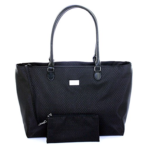 Baggallini Grace Uptown Laptop Tote Handbag Black