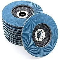 10x Inox–Disco abrasivo 115mm azul | grano 80