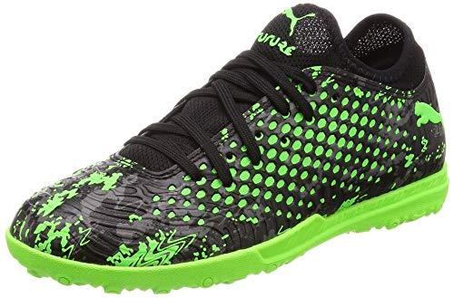 Puma Jungen Future 19.4 TT Jr Fußballschuhe, Schwarz Black-Charcoal Gray-Green Gecko, 37 EU - Kunstrasen Fußball Schuhe